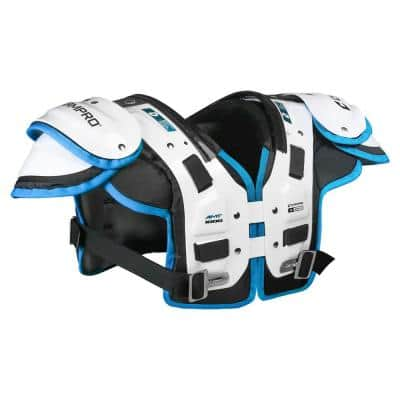 AMT-1000 Shoulder Pad Football Equipment Gear with Clavicle Pads, Large