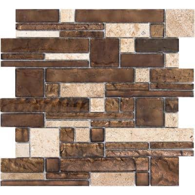 Vista Sight Glossy 11.81 in. x 11.81 in. x 8mm Glass Mesh-Mounted Mosaic Tile (0.97 sq. ft.)