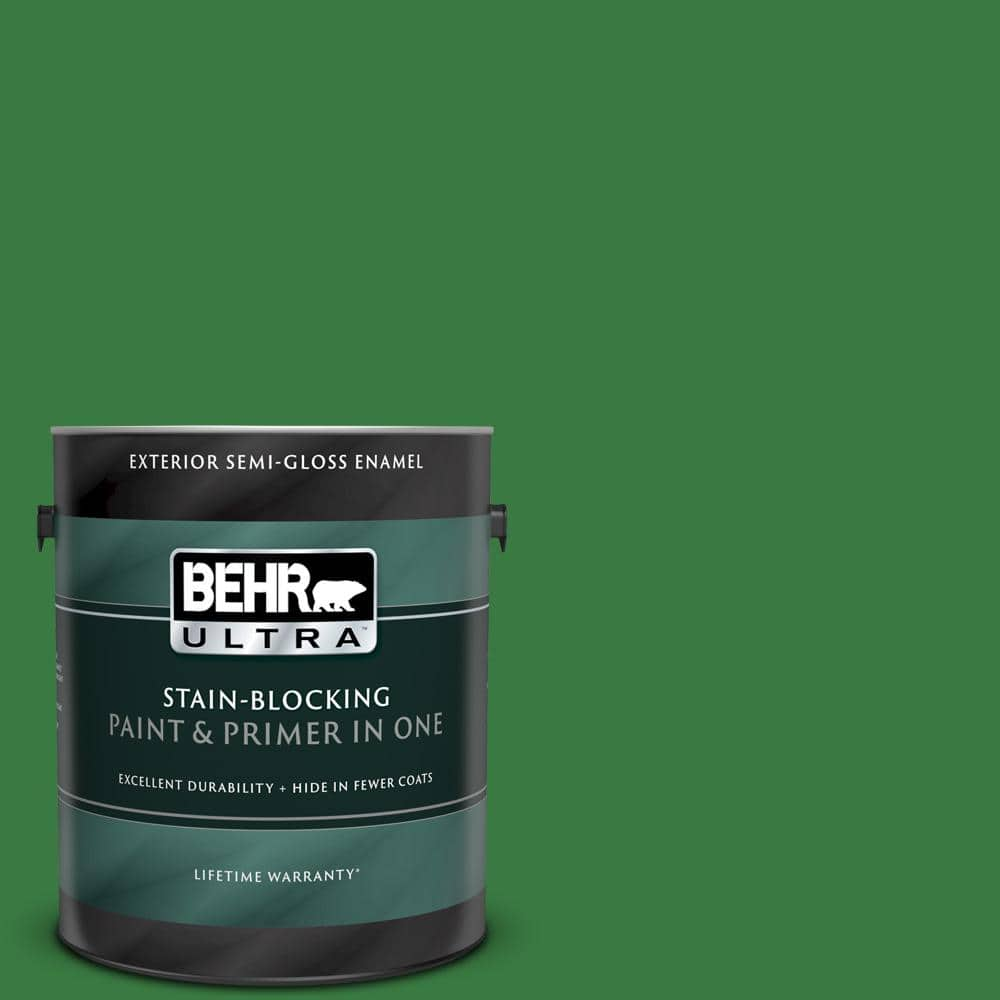 Behr Ultra 1 Gal M390 7 Hills Of Ireland Semi Gloss Enamel Exterior Paint And Primer In One 585301 The Home Depot