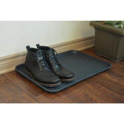 Techo Boot Classic Black 16 in. x 24 in. Polypropylene Multi-Purpose Boot Tray (3 - Pack)