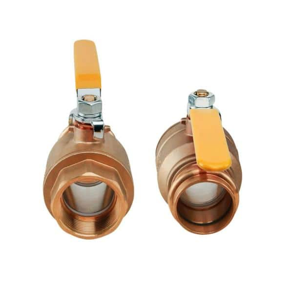 Z.L.F.J.P Valve Brass Small Ball Valve Female//Male Thread Brass Valve Connector Joint Copper Pipe Fitting Coupler Adapter Color : Brass, Size : 1//8