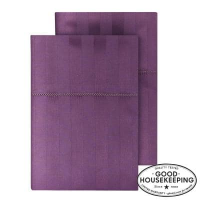 500 Thread Count Egyptian Cotton Sateen King Pillowcase in Orchid Damask (Set of 2)