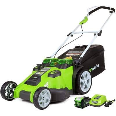 20 in. 40-Volt Battery Cordless Push Lawn Mower with 5.0 Ah Battery and Charger