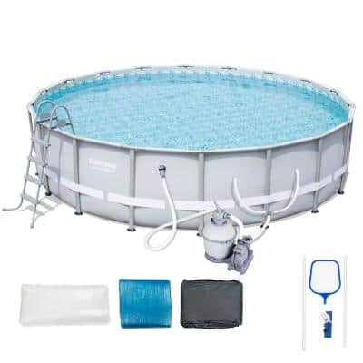 18 ft. x 52 in. D Steel Metal Round Above Ground Frame Pool