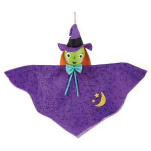 12 in. Small Halloween Hanging Witch Decoration (9-Pack)