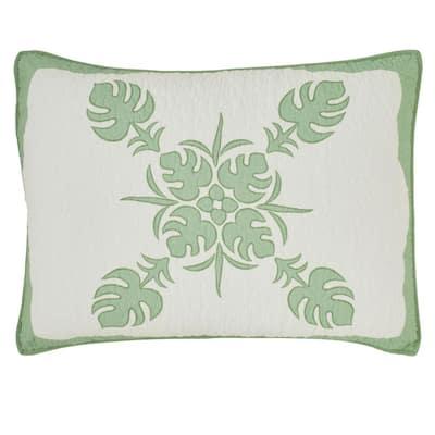 Molokai 1-Piece Green Cotton Standard Sham