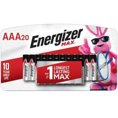 Energizer MAX AAA Batteries (20 Pack), Triple A Alkaline Batteries