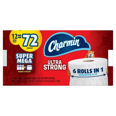 Ultra Strong Toilet Paper (12 Super Mega Roll)