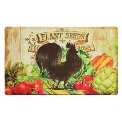 Farm Friends Rooster 18 in. x 30 in. Comfort Mat