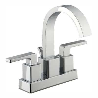 Farrington 4 in. Centerset 2-Handle Hi-Arc Bathroom Faucet in Chrome