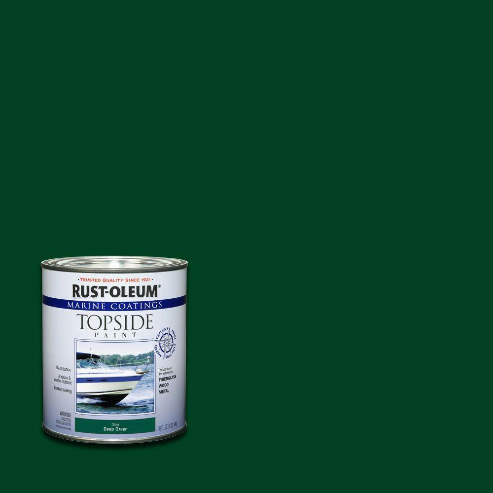 1 qt. Gloss Deep Green Topside Paint (4-Pack)