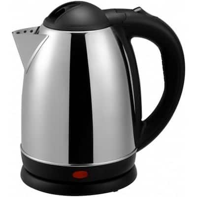 1000-Watt 1.7 L Stainless Steel Electric Cordless Tea Kettle (Brushed)