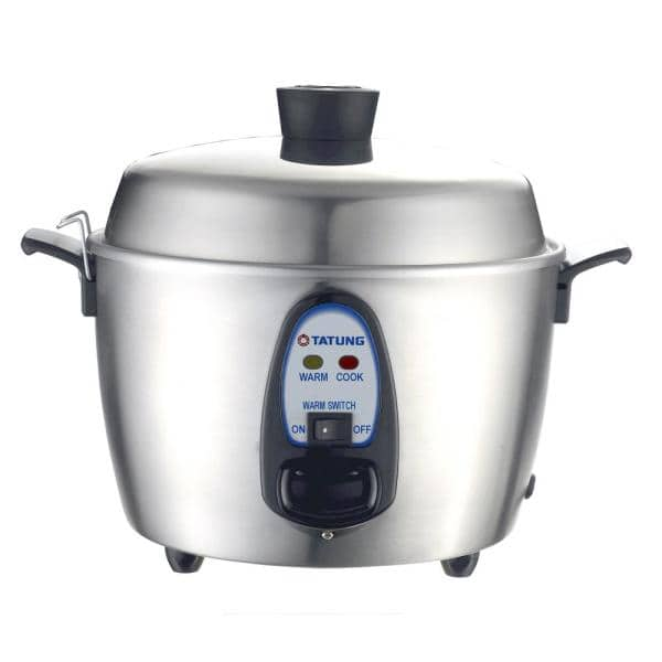 Tatung - 1.14 Qt. Stainless Steel Electric Multi-Cooker with Stainless Steel Pot