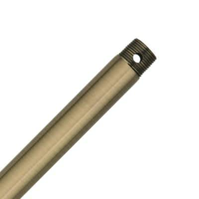 12 in. Antique Brass Extension Downrod for 10 ft. ceilings