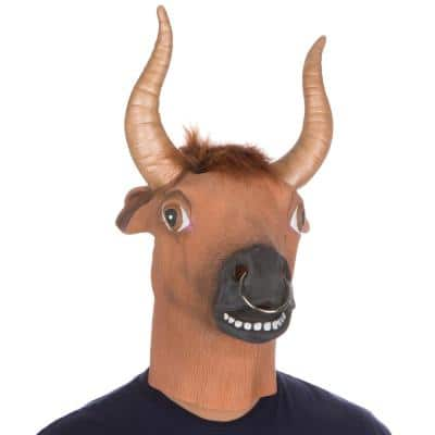 Latex Halloween Party Costume Bull Ring Mask