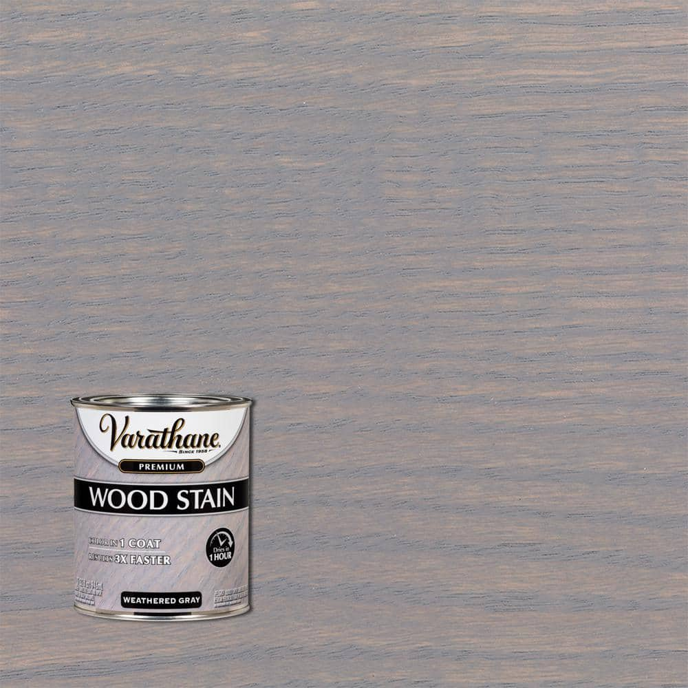 Varathane 1 qt. Weathered Gray Premium Fast Dry Interior Wood Stain