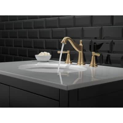 Mylan 8 in. Widespread 2-Handle Bathroom Faucet in Champagne Bronze