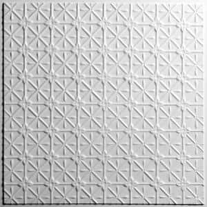 Continental White 2 ft. x 2 ft. Lay-in or Glue-up Ceiling Panel (Case of 6)