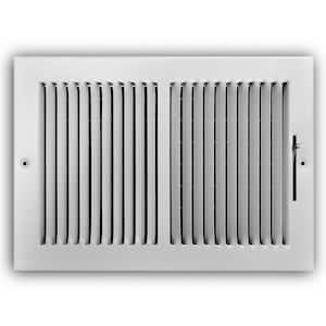 12 in. x 8 in. 2-Way Steel Wall/Ceiling Register in White
