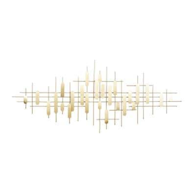 25 in. x 58 in. Metal Gold Contemporary Wall Decor