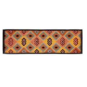 46.5 in. x 14 in. x 1.5 in. Natural & Recycled Rubber Boot Tray with Tan & Multi Coir Insert