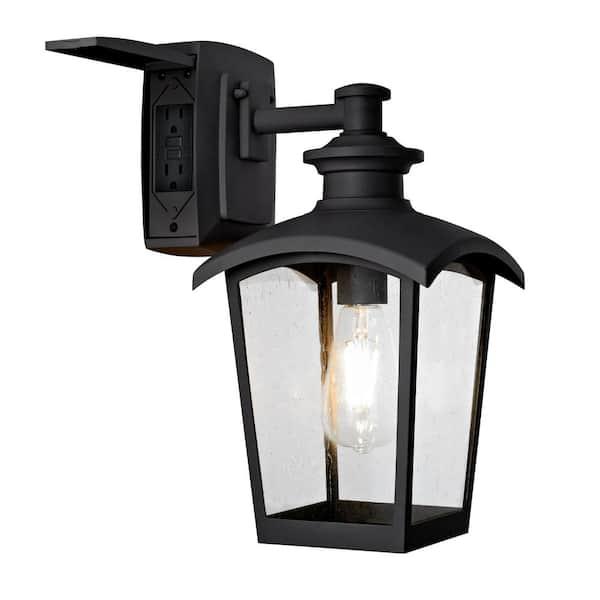 Home Luminaire 1 Light Black Outdoor, Outdoor Electrical Lighting Fixtures