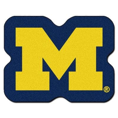 NCAA University of Michigan Yellow 3 ft. x 4 ft. Specialty Area Rug