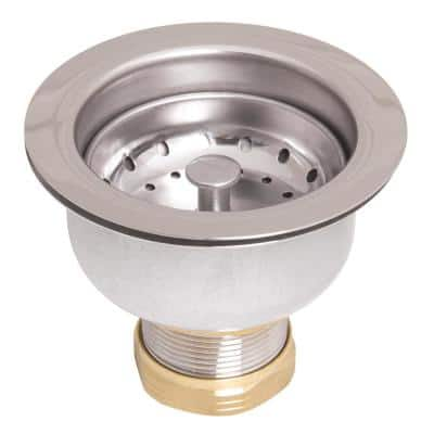 Stainless Steel and Brass Deep Dish Posi-Lock Basket Strainer Assembly in Polished Chrome