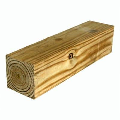 6 in. x 6 in. x 16 ft. #2 Pressure-Treated Timber