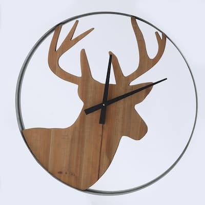 Brown Deer Lodge Wall Clock