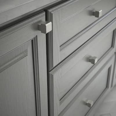 Tapered Edge 1 in. (25mm) Satin Nickel Cabinet Knob