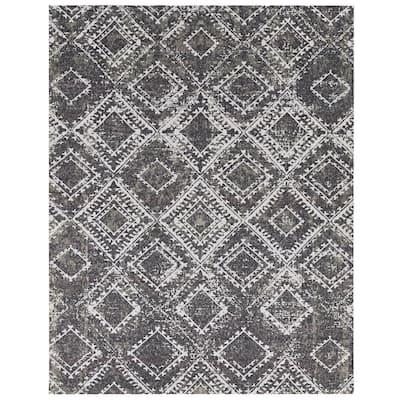 Vintage Gray/Black 6x8 Area Rug- TPR