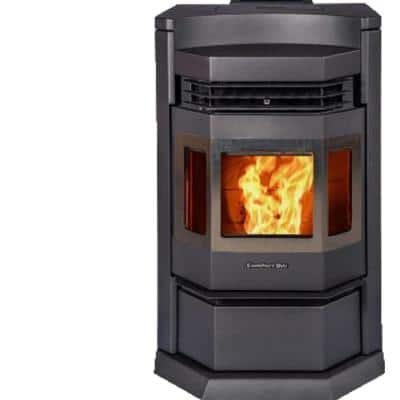 2,800 sq. ft. EPA Certified Pellet Stove in Black and SS Trim