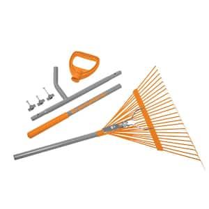 24-Tine Leaf Rake Steel Shaft Strain Reducing Steel