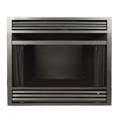 Universal Circulating Zero Clearance 32 in. Ventless Dual Fuel Fireplace Insert
