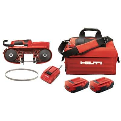 22-Volt SB 4-A22 Cordless Band Saw Kit Includes 3-Pack of 14 TPI / 18 TPI Teeth Blades, Battery, Charger and Tool Bag