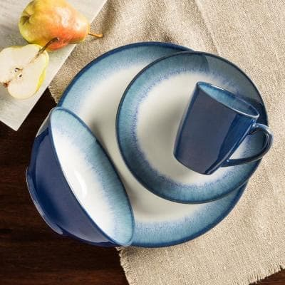 Novelle 16-Piece Casual Dusk Porcelain Dinnerware Set (Service for 4)