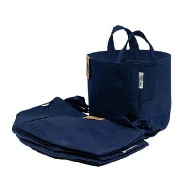 25 Gal. Navy Breathable Boxer Fabric Planting Containers and Pots with Handles Planter