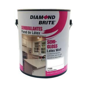 Diamond Brite Paint 1 Gal High Hiding White Semi Gloss Latex Interior Paint 21050 1 The Home Depot