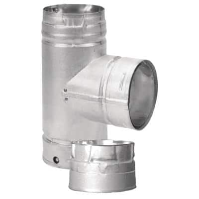 PelletVent 4 in. Single Tee with Clean-Out Cap