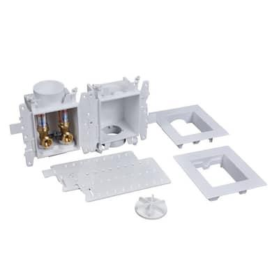 Moda 1/2 in. Brass PEX1807 Washing Machine Outlet Box with Water Hammer Arrestor