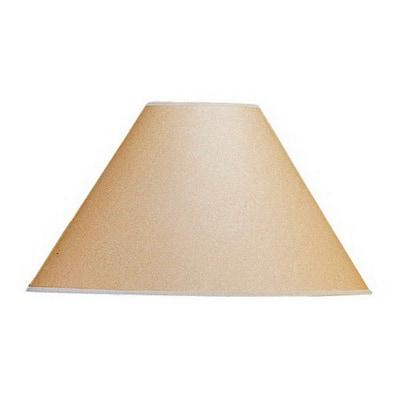 17 in. Beige Vertical Basic Coolie Kraft Paper Hardback Shade
