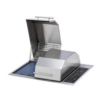 Texan Built-In Electric Grill in Stainless Steel with IntelliKEN Touch Control 240-Volt