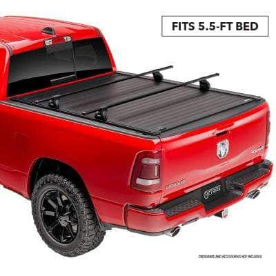 """PRO XR Tonneau Cover - 07-19 Toyota Tundra CrewMax 5'6"""" Bed w/ Deck Rail System w/out Stake Pockets"""