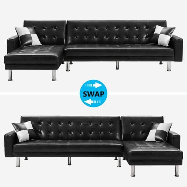 3 Seats Convertible Sofa, Paint For Leather Furniture Home Depot