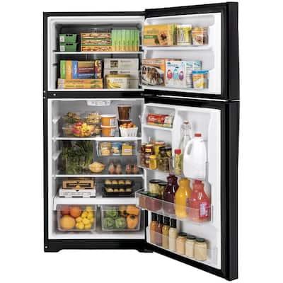 21.9 cu. ft. Top Freezer Refrigerator in Black Slate, Fingerprint Resistant