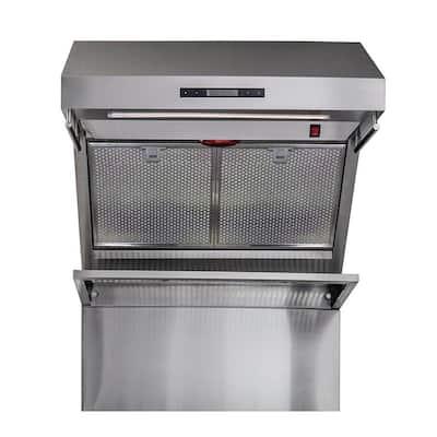 Savona 30 in. Wall Mount Range Hood with Red Light Warmer/Shelf/Back Splash Hybrid Filters in Stainless Steel