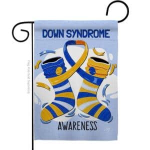 13 in. x 18.5 in. Down Syndrome Garden Flag Double-Sided Support Decorative Vertical Flags