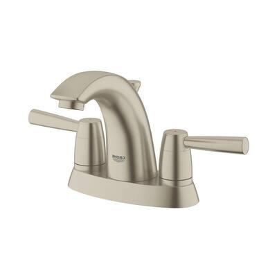 Arden 4 in. Centerset 2-Handle Bathroom Faucet in Brushed Nickel-Infinity
