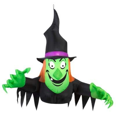42 in. Window Creeper Friendly Witch Halloween Inflatable